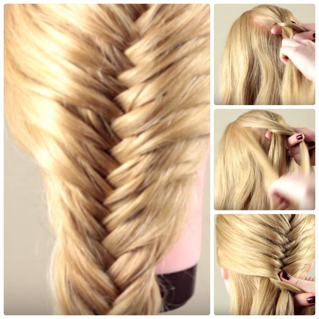 Как сделать легкую прическу самой себе на средние волосы пошагово