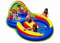 бассейн с горкой для детей 3