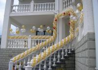выписка из роддома украшение шарами 10