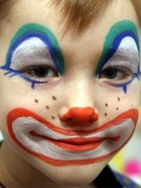 Рисунки на лице для детей2