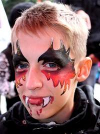 Рисунки на лице для детей3