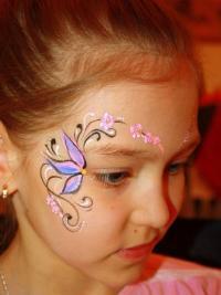Рисунки на лице для детей8