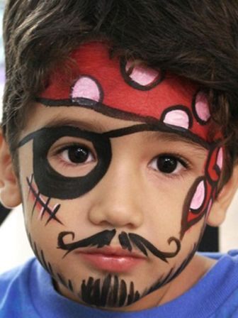 Рисунки на лице для детского праздника